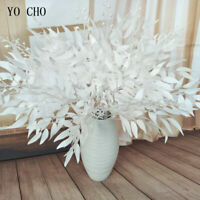 Artificial Flower White Plant Silk Willow Leaf Wedding Home Vase Bouquet Decor