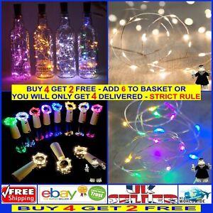 2 Metre Cork LED Lighting for Dream Catchers Glass Bottles Vases Batteries Inc