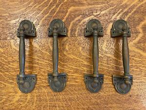 Set of Four Bronze Edwardian Era Door or Drawer Pulls
