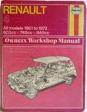 Haynes - Renault 4 / 1961 to 1972 All Models Owner's Workshop Manual - Used 1st
