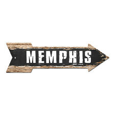 AP-0273 MEMPHIS Arrow Street Tin Chic Sign Name Sign Home man cave Decor