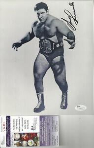 WWF LEGEND  Bruno Sammartino  autographed 8x10  photo Bonus pic JSA Certified