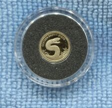 2012 Eastern Brown Snake Gold Proof $5 Coin Tokelau L-899