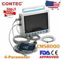 "Portable Medical Patient Monitor 12.1"" ICU Vital Sigs SpO2,PR,NIBP,ECG,RESP,TEMP"