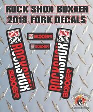 Rockshox BOXXER 2018 Style Fork Sticker Decal Graphics Enduro, DH,  red