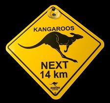 Australian Made Souvenir Roadsign Car Window Swinger Suction Kangaroo