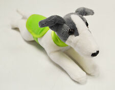 Greyhound Wearing a GREEN Coat and Collar - Soft Toy