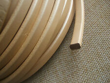 1 Yard 10*6mm Light Gold Genuine Real Licorice Leather Cord Fine Jewelry Making
