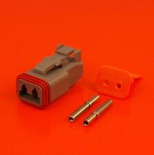 Deutsch DT Series 2 Way Plug Connector Kit DT06-2S C/W Pins & Wedglock DT 06 2S