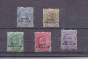 Somaliland Protectorate 1903 Five values to 6a lightly mounted mint