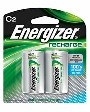 Energizer NH35BP2 C2 Rechargeable, Size C, 2 Count