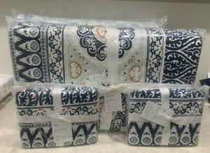 Pottery Barn Pia Medallion cotton KING quilt 2 KING shams