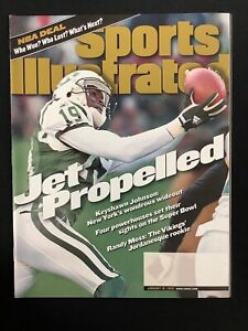 Keyshawn Johnson Sports Illustrated Magazine 1/18/99 No Label Football Jets