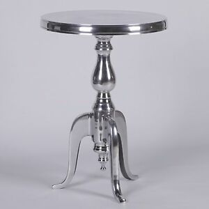 Aluminium Metal Round Side Occasional Table / Wine Table Lamp Table
