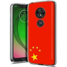 Thin Gel Phone Case Motorola moto g7 play,Flag China Red Five Star Nation Print