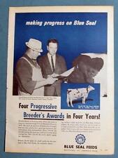 Original 1966 Blue Seal Photo Endorsed Ad by Everett Brown of Feeding Hills Mass