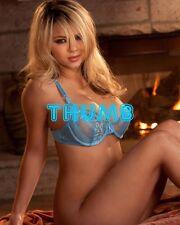 Ashlynn Brooke - 10x8 inch Photograph #056 in Blue Lacy Bra
