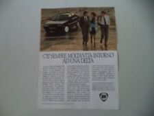advertising Pubblicità 1986 LANCIA DELTA HF TURBO
