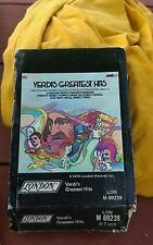 Verdi's Greatest Hits London LON m 69239 1973 8 Track cassette cartridge Abbado