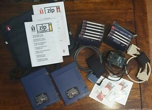 2x Iomega 100MB Zip Drive Parallel Port Drive 100MB, Disks, bag, leads & manuals