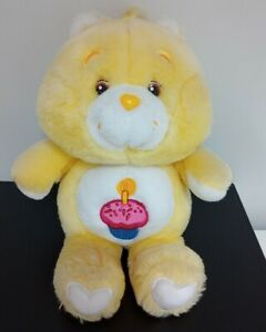 Yellow Cupcake Carebear Birthday Bear Soft Plush Toy 2002
