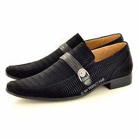 NEUF POUR HOMMES STYLE ITALIEN habillé / mariage Chaussures à enfiler DISPONIBLE