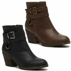 Womens Rocket Dog Salmina Biker Smart Casual Zip-Up Ankle Boots Sizes 4 to 8