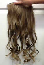 "Clip in, Curly, Hair Piece 25"", Foxy Hair Extensions BrownBlonde#"