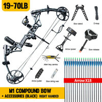 """New Topoint M1 Compound Bow 19-30""""/19-70Lbs Right Hand Hunting Archery Target US"""