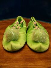 DISNEY STORE TINKERBELL COSTUME SHOES FLATS 2/3 NEW FLOWERS GIRLS SIZE