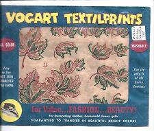 Vintage Vogart Chaud Fer TEXTILE TOUT COULEUR GABARIT Vivement Fall feuilles
