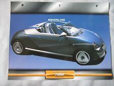 Ford Saetta Dream Cars Card