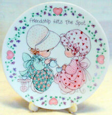 1992 Precious Moments Friendship Hits The Spot Plate & Stand Young Ladies