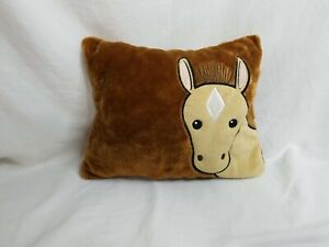 Fiesta Horse Plush Unzips Turns Into Pillow 21 Inches 2 Tone Brown