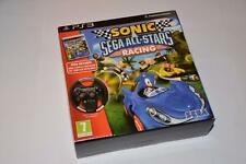 Sony PS3 ~ Sonic Sega All-Stars Racing Bundle ~ Game + Wheel ~ NEW and SEALED
