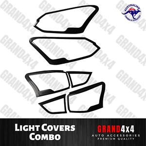 Front + Rear Head Tail Light Covers Trim Combo to suit Isuzu MU-X MUX 2017+