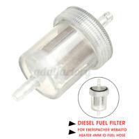 Diesel Parking Heater Inline 4mm ID Fuel Filter For Webasto Eberspacher RV *