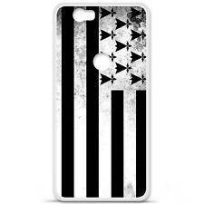 Coque Housse Etui Huawei Google Nexus 6P silicone gel motif Drapeau Bretagne