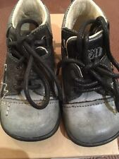 IKKS garçon KIWI Chaussures De Lacets En Noir/Gris Blanc Stitch RRP £ 37.95 Maintenant £ 17.99