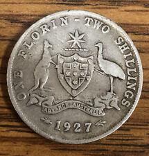 Australia 1927 1 florin 2 shillings Silver Coin
