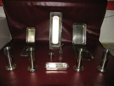 MEDICAL TRAYS, CUP, BOTTLE, JARS AND KIDNEY BASIN STAINLESS  LOT OF 15