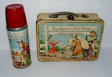 % 1950'S Tin Litho Roy Rogers & Dale Evans Lunchbox & Thermos