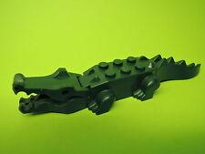 Lego 1 x Krokodil dunkelgrün   Set 8632 6241 6242 7625