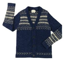 NN07 No Nationality Viggo Mens Wool Blend Nordic Striped Cardigan Sweater Size M
