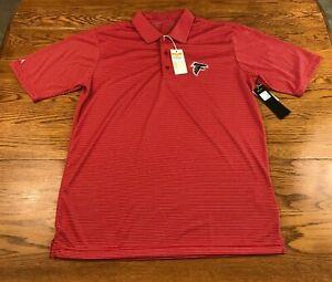 Atlanta Falcons Striped Polo Shirt Antigua Men's M Medium NWT New