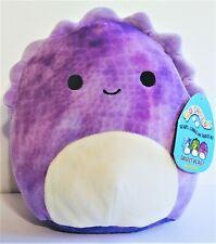 "Nwt Squishmallow Kellytoy 8"" Delilah Dinosaur Purple Stegosaurus"
