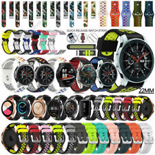 For Samsung Galaxy Watch 3 45mm 46mm Gear S3 Silicone Wrist Band Strap Bracelet