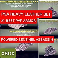 PSA Heavy Leather Armor Set powered sentinel assassin PVP - FO 76 XBOX meta