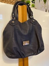 MBMJ Marc Jacobs Blue Fran Bag With Silver Hardware