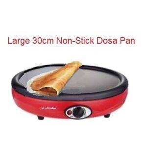 1000W Electric Dosa Chapatti Uttapam Lavash Maker Omelette Non-Stick Grill Pan